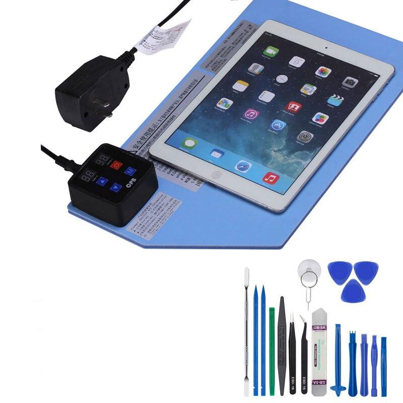 Profesional CPB LCD apertura separador de almohadilla de goma de calentamiento separado pantalla del teléfono lcd Máquina separadora kits de reparación de teléfono