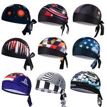 Ciclismo Cap Head Scarf verano hombres mujeres corriendo Bandana pañuelo para la cabeza Ciclismo pirata sombrero Hood diadema de secado rápido USA Skull
