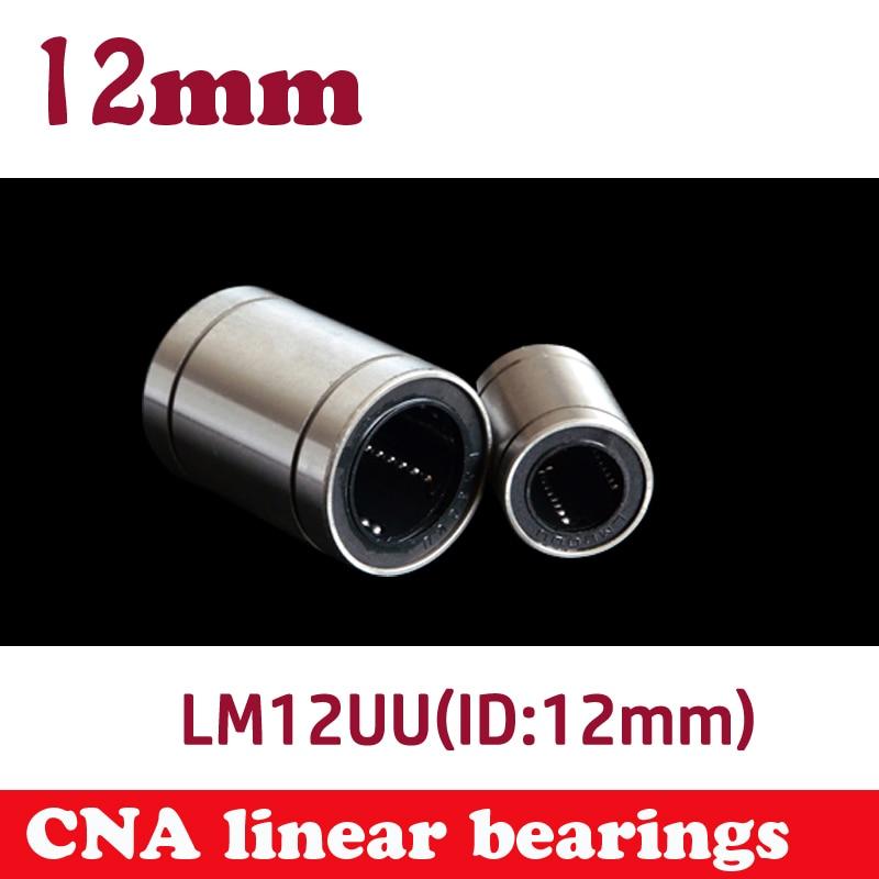10 uds/lote LM12UU 12mm de rodamiento lineal de 12mm del eje buje rodamientos lineales CNC 3d piezas de la impresora LM12