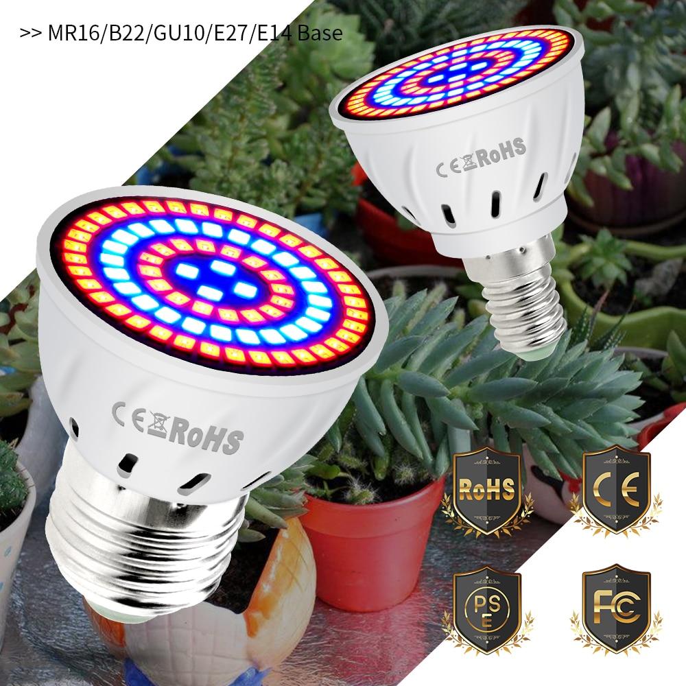 CanLing GU10 LED 220V Plant Light E14 Grow Bulb E27 Fitolampy MR16 Phyto Lamp Led 3W Full Spectrum I