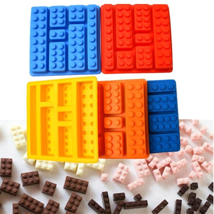 1PCS Lego type Shape Muffin Sweet Candy Jelly fondant Cake chocolate Mold Silicone tool Baking Free Shipping