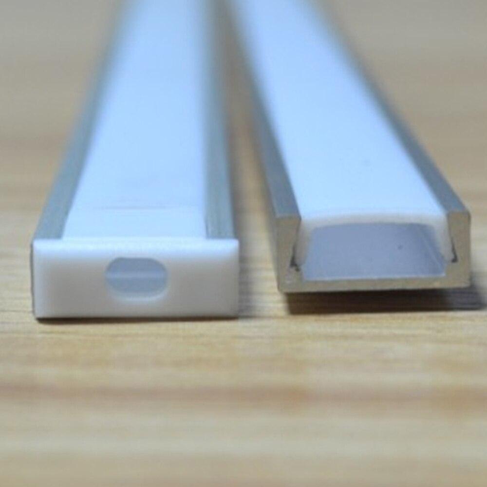 50 шт. (100 м) в партии 2 м за штуку анодированный диффузный/прозрачный чехол тонкая светодиодная лента профиль алюминиевый светодиодный канал для светодиодных полосок