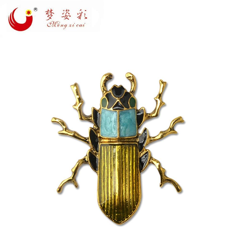 ¡Novedad de 2019! broche de aleación de oro para hombres, broches de cucarachas, broches Retro de insectos, broches de escarabajos y escarabajos, accesorios de Pin X1794