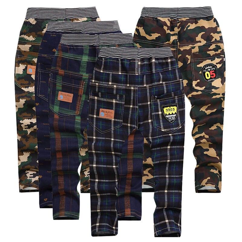 Pantalones de camuflaje a cuadros para niña Y niño, ropa de moda para niños 5-10 Y ropa de calidad para niños, gran oferta 2019