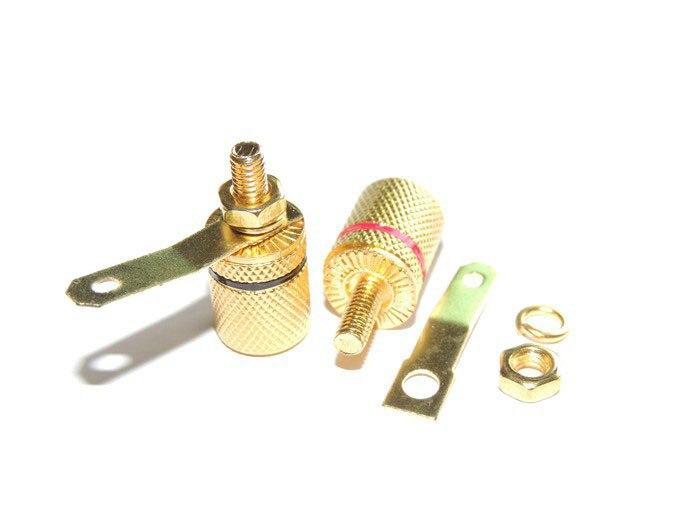 مكبر صوت مطلي بالذهب ، 100 قطعة ، طرف ربط