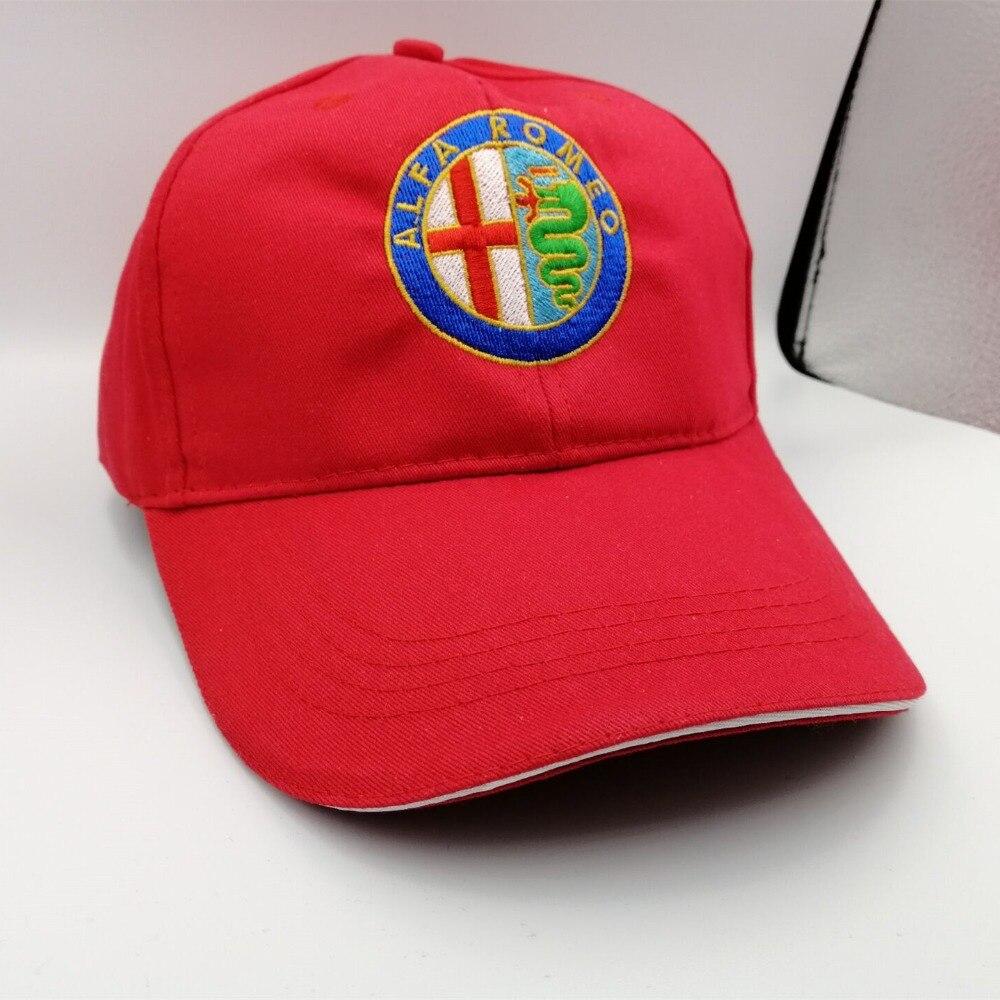 5 piezas para Alfa Romeo deportiva Quatrefoil verde sombrero gorra coche Sline Logo Moto Racing gorra de béisbol ajustable Casual sombrero giulietta.