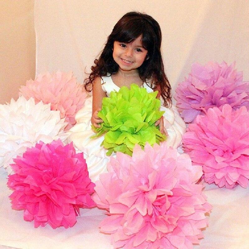 1 pcs 6--14 polegadas (15/20/25/30/35 cm) Papel Tissue Pom Poms Wedding Party Decor Flor de Papel Para A Decoração de Casamento Fontes Do Jardim