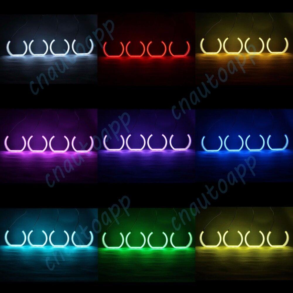 Ojos de Ángel RGB cristal Bluetooth WIFI inalámbrico controlador Multi-Color RGB luces LED de coche DRL para 2010-16 BMW serie 5 F10 F11