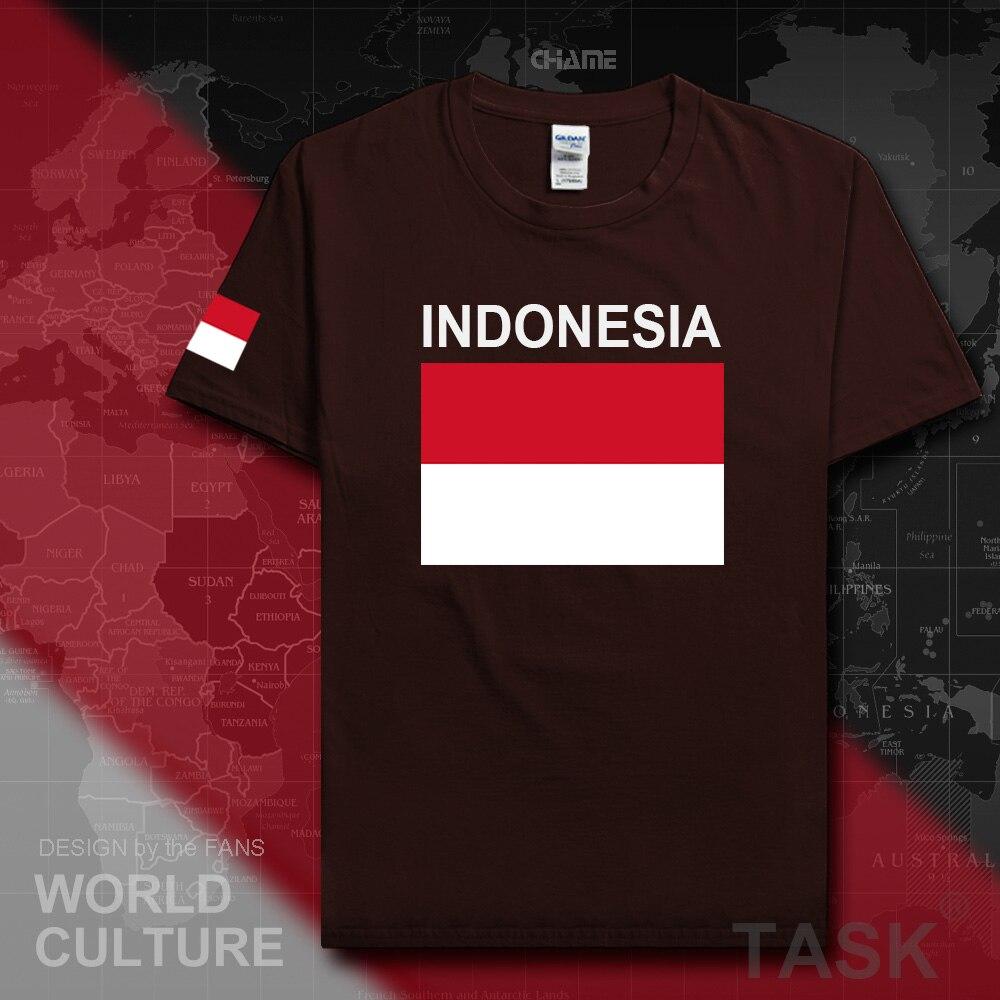 Indonesia indonesio t camisa hombres camisetas 2019 Camiseta de algodón nación equipo camiseta fans fitness pantalón corto casual manga IDN 02