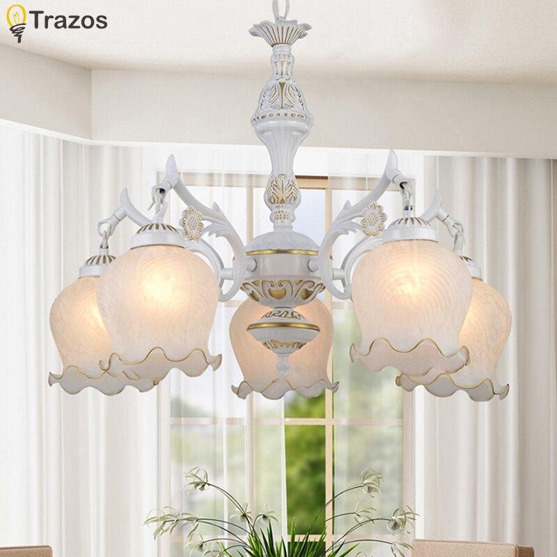 Nouveau chaud véritable zinc vintage fleur lampe LED Chandelierl bougies haut nouveauté intérieur lumières mariage décoration foyer lampe