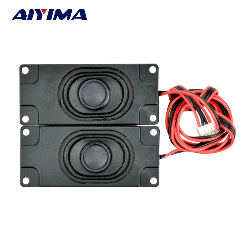AIYIMA 2 uds altavoces de Audio portátiles 3070 caja altavoz 8 Ohm 5W DIY Mini TV altavoces de ordenador