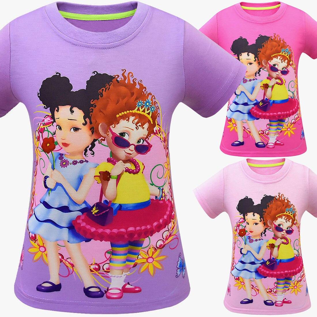 2019 Meninas Novas Do Bebê Verão fantasia nancy Camisa Dos Miúdos moana lol Roupas Menina T-shirt de Mangas Curtas T-shirt Roupas Top de Banda Desenhada tees