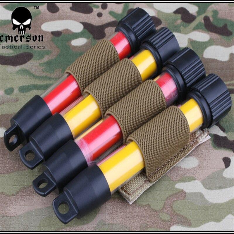 2017 EmersonGear, Bolsa Electrónica táctica de nailon, Glow Stick, modelo B, bolsa militar Multicam negro EM6061