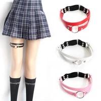 1 pc harajuku punk studded pu leather bride leg ring body jewelry cute adjustable size garters leg ring wedding gifts