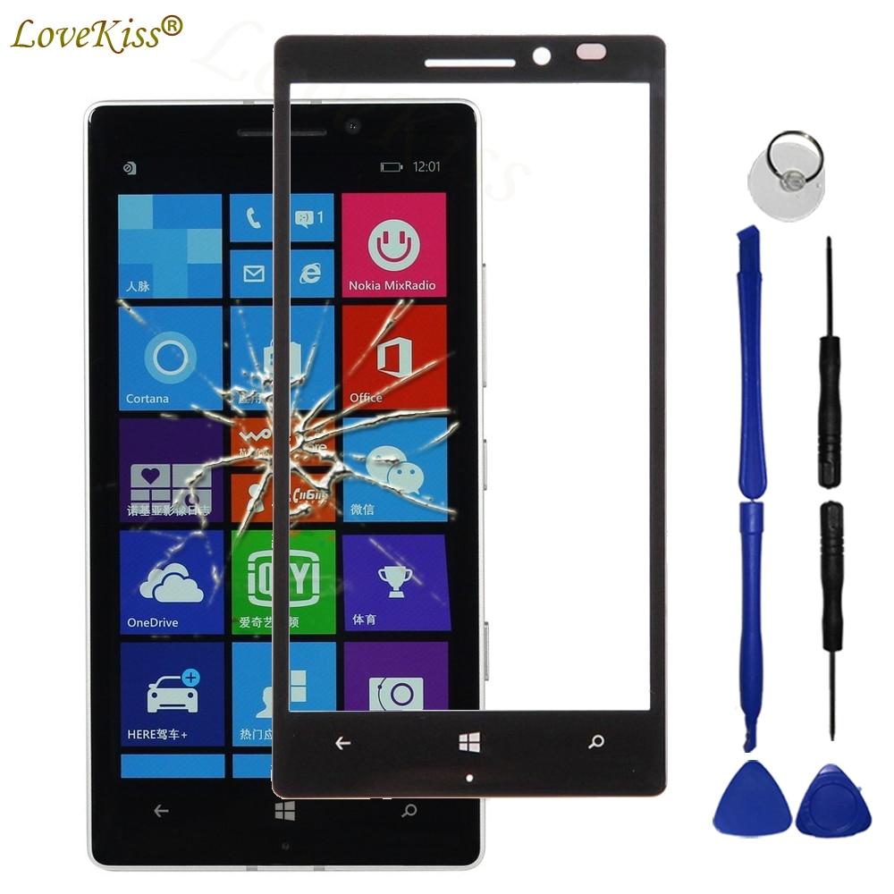 N930 Panel frontal para Nokia Lumia 930 N930 Sensor de pantalla táctil LCD pantalla digitalizador cubierta de vidrio táctil TP herramientas de repuesto
