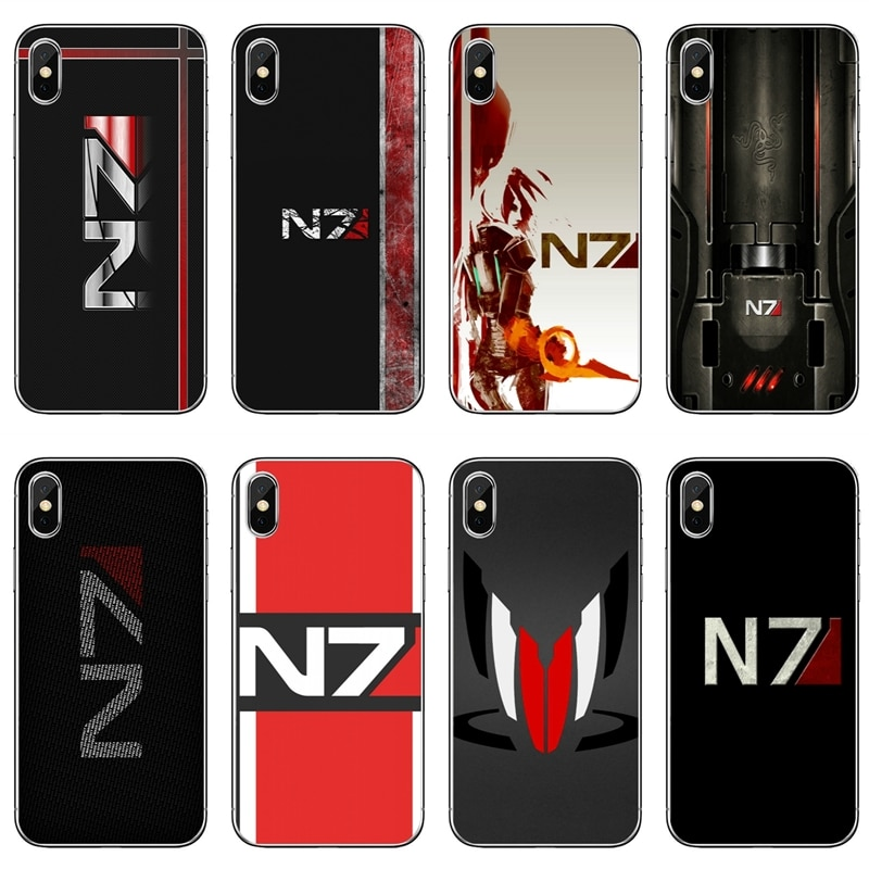 Efecto de masa N7 caja del teléfono para iPhone 7 6 s 6 plus XR X XS X Max SE 5S 5c funda suave para iPod Touch 5 4S 4