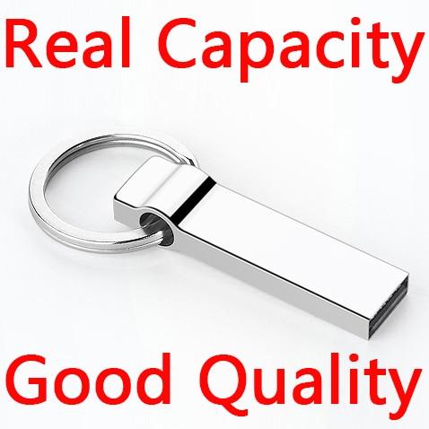 Real Capacity Metal USB Flash Drive Key Chain Pendrive 1TB 2TB 16GB 32GB 64GB USB Stick Memory Card Pen Drive Gift Good Quality