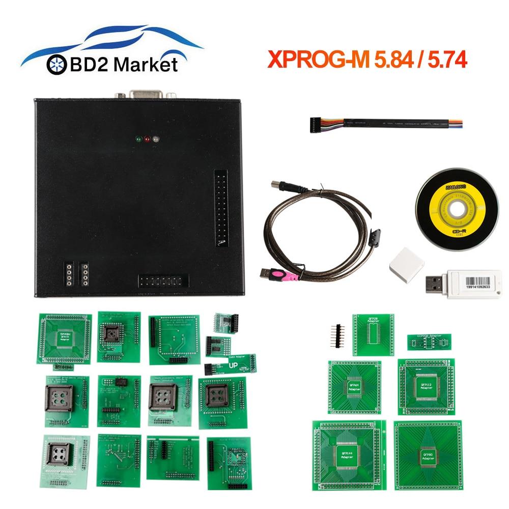 XPROG-M V5.84 V5.74 herramienta de sintonización de Chip ECU programador BMW XPROG M X-PROG programador ECU interfaz V5.84 V4.4 No límite