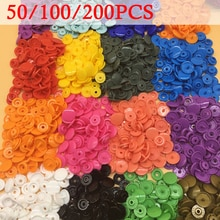 100/150/200 ensembles Kam T5 12mm rond en plastique boutons-pression bouton attaches pour vêtements housse de couette feuille bricolage bouton vêtement accessoires