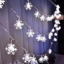 1M 2M 4M 10M 3AA batterie flocons de neige Led chaîne fée lumière fête de noël maison mariage jardin guirlande décoration pour arbre de noël