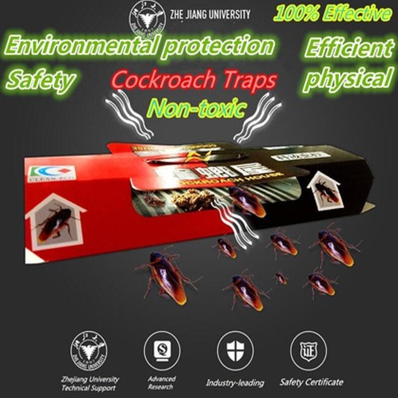 100 piezas cucaracha trampa casa BlackBeetle cebo fuerte etiqueta trampa cocina seguridad cucaracha matar a trampa de pegamento trampas pegajosas