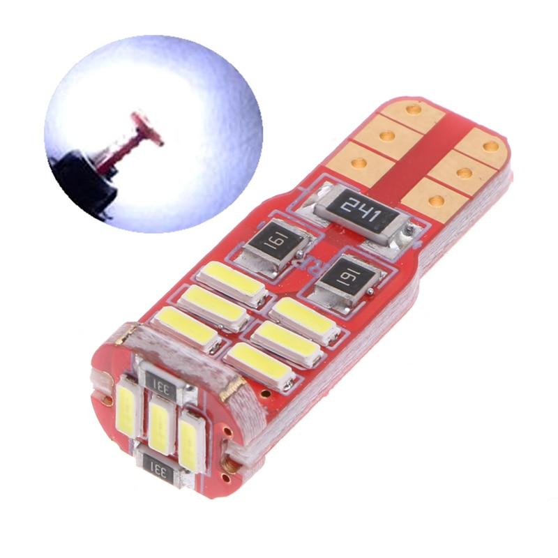 Nova can-bus livre de erros 15-smd t10 w5w led 5w5 4014 marcador lâmpada luz branca