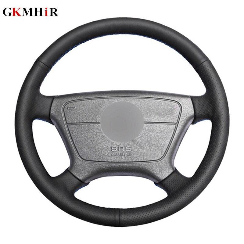DIY Black Artificial Leather Car Steering Wheel Cover for Mercedes Benz E-Class W210 E 200 240 280 320 1995-2002 W1