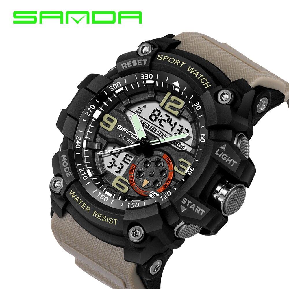 Sanda Luxury Brand Men Sport Digital Led Watch G Military Multifunction Shock Wristwatch 5atm Waterproof Relogio Special Offer