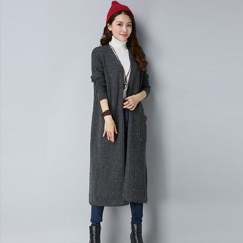 Thicker Plus size Casual Cardigan 2018 New Spring Autumn Korean Cashmere Sweater Women Ladies Knitted Tops Female Sweaters Z564 enlarge