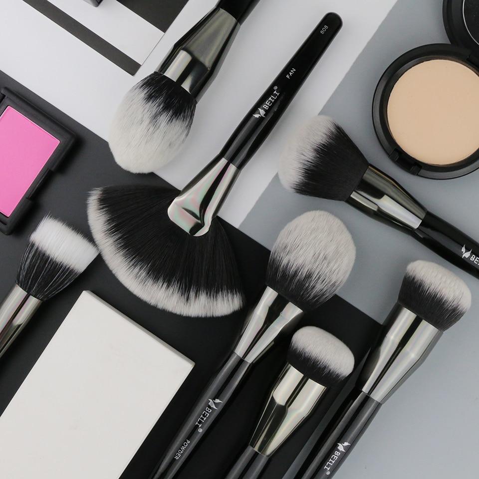 BEILI, 1 шт., синтетические волосы, один большой порошок, веер, крем, основа, Stippling, отделка, отдельные Кисточки для макияжа