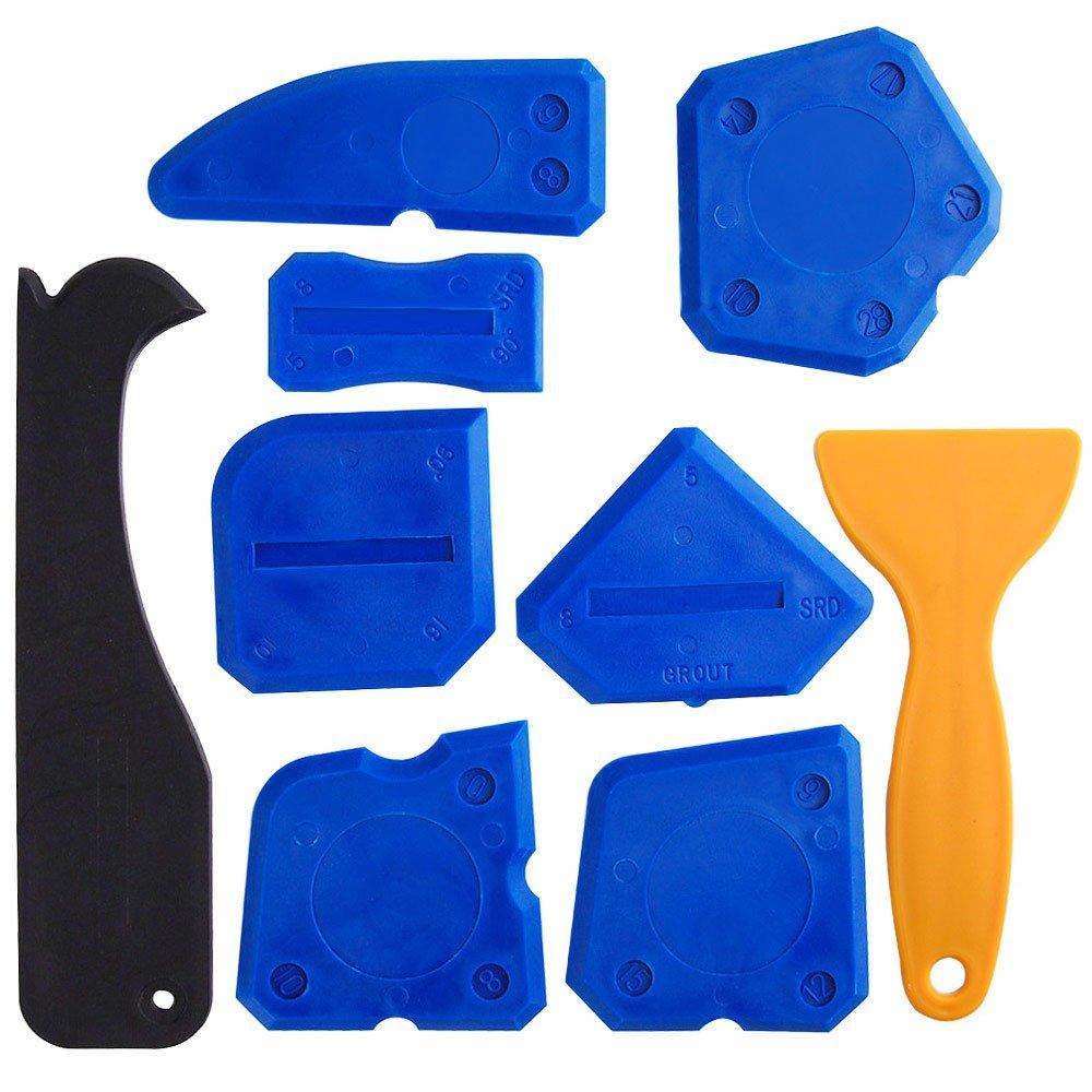 Бесплатная доставка, 9 шт., герметик, инструменты, набор для нарезки, силиконовый герметик, скребок, герметик, отделочный инструмент, набор ин...