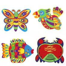 4 pièces pack tissu art pâte peinture enfants non tissé tissu manuel bricolage maternelle parent fait main matériel filles jouets BS72