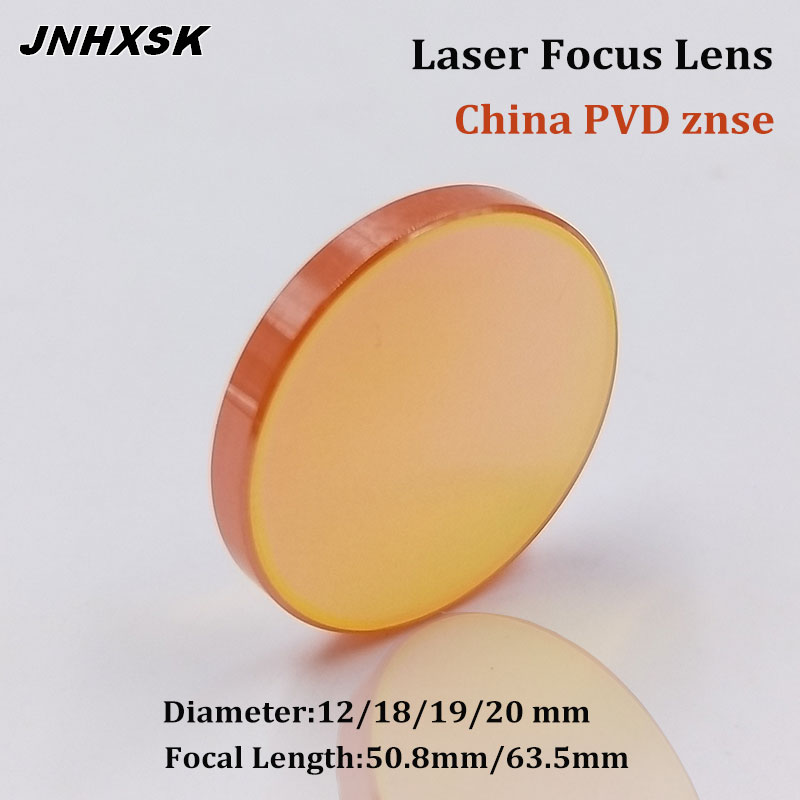 Лазерный фокус JNHXSK ZnSe CO2, диаметр объектива 12 18 19 20 мм FL 50,8 63,5 мм PVD для гравировки, резки Achine запчасти