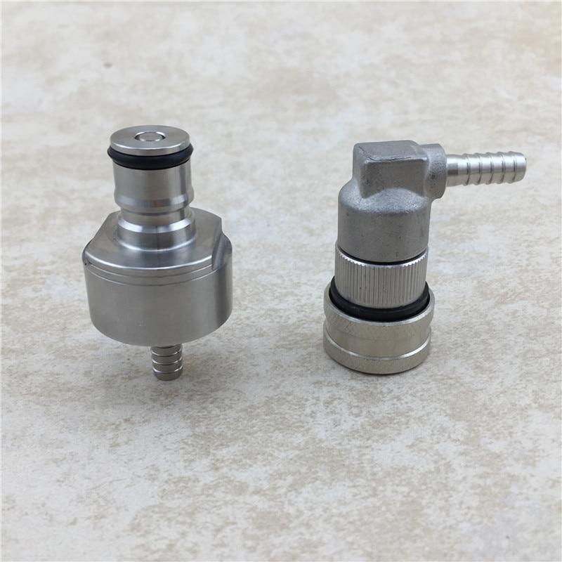"Beer Brewing Carbonation Cap w/ 5/16"" Barb & Cornelius Keg Ball Lock Disconnect for homebrew cornelius keg"
