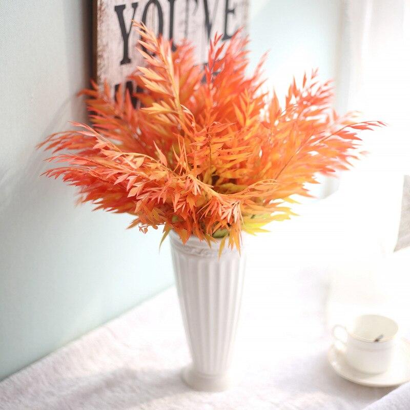Ramo Artificial de simulación de hoja de arce sensación Real hogar boda decoración de flor falsa DIY Clip Art artesanía de corona falso