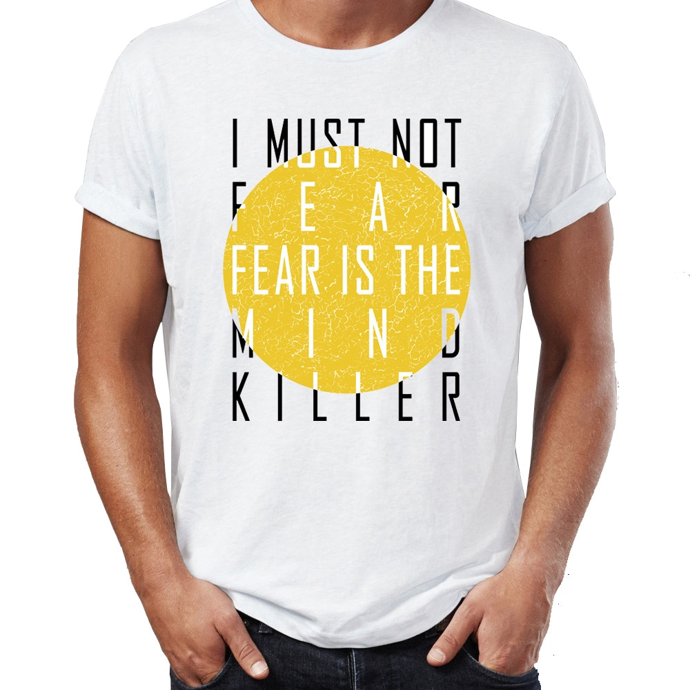 Camiseta para hombre Fear Is The Mind Killer duna impresionante dibujo impreso de obra de arte