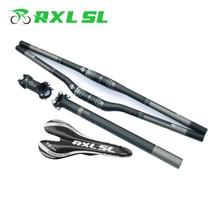 RXL SL VTT carbone vtt guidon 3K mat/brillant tige de selle + tige + selle + plat/Riser guidon carbone ensemble guidon de vélo