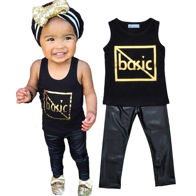 Conjunto de ropa de verano para niños y niñas, camiseta con letras...
