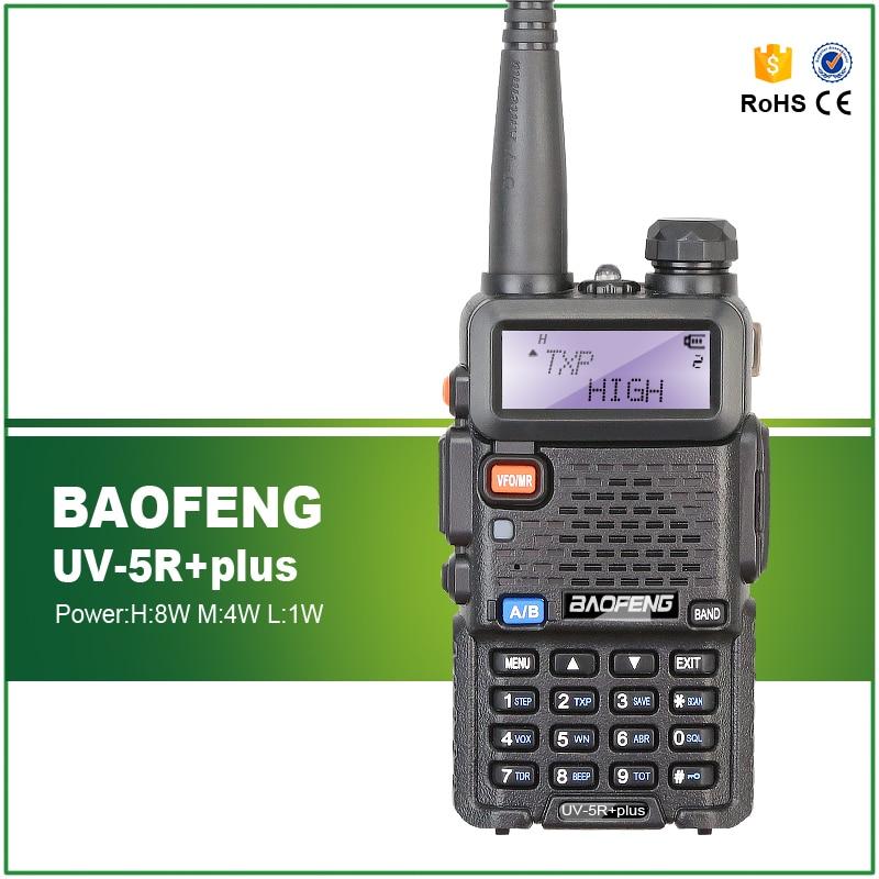 Nueva llegada Tri Power 8W/4W/1W banda Dual 136-174/400-520MHZ CTCSS DCS BAOFENG UV-5R más jamón transmisor de Radio Amateur