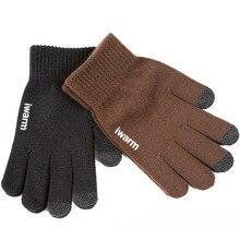 Gants tricotés femmes/hommes épaissir hiver chaud gant écran tactile gants mâle chaud laine cachemire gants hiver hommes mitaine unisexe