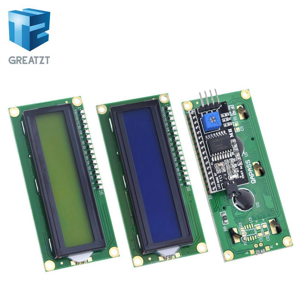LCD1602 + LCD I2C 1602 módulo de pantalla Azul IIC/I2C LCD1602 CII para arduino LCD1602 placa Adaptadora