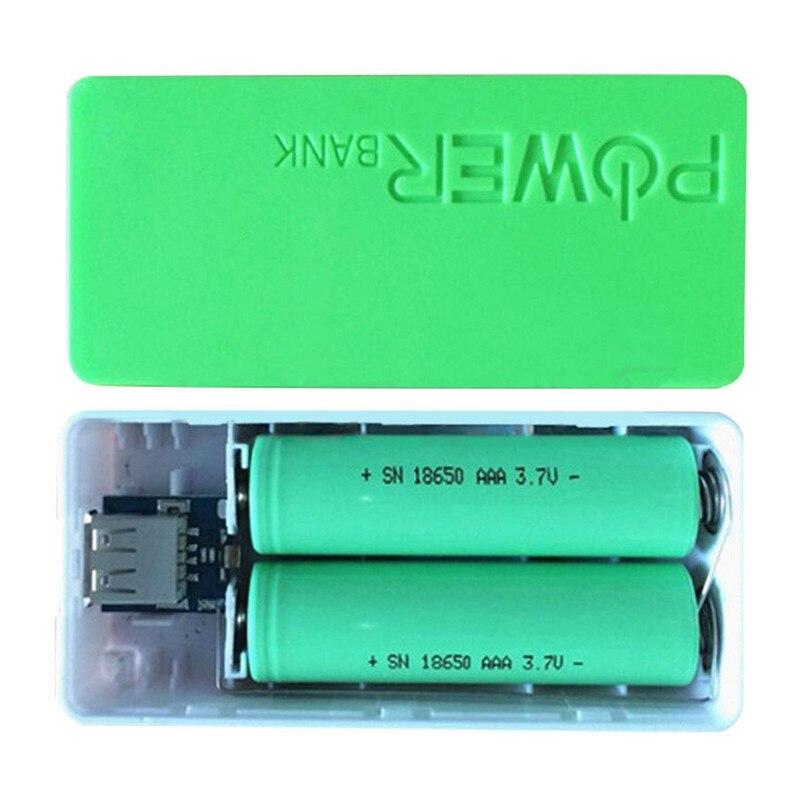 Banco de energía portátil DIY para 5600mAh 18650 cargador General de batería funda de cargador de batería de reserva externa con llavero