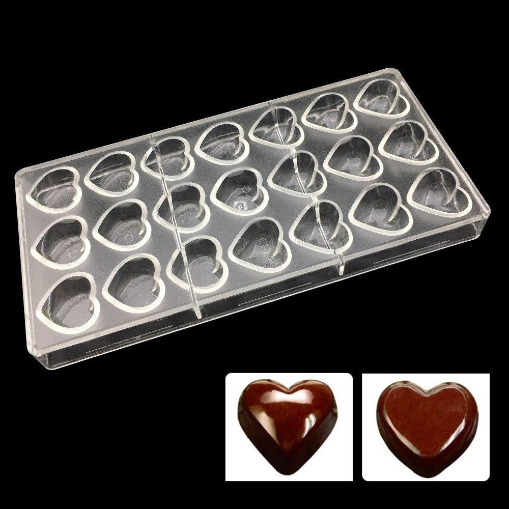 Equipo de cocina molde de policarbonato para chocolate, utensilios para hornear al por mayor herramientas de pastelería molde de plástico para chocolate