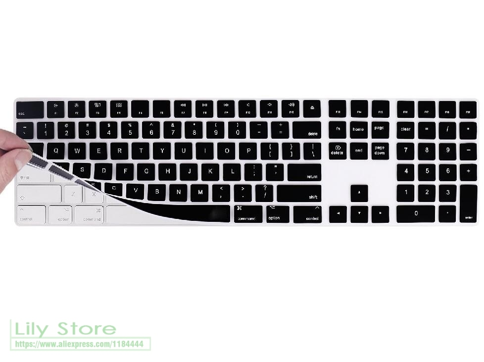 Magie Tastatur mit Numerischen tasten Silikontastatur Hülle Für Apple Magic Tastatur mit Anzahl Zone A1843 2017