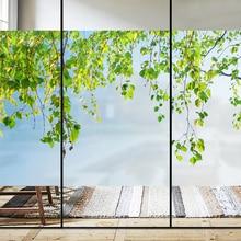 Custom size window glass sticker bathroom light transparent opaque toilet frosted glass film window stickers 3d