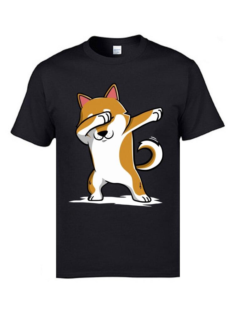 Camiseta divertida de Dabbing Shiba Inu Terrier para hombre, camisa bonita de...