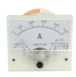 Класс 2,5 64x56 мм 85L1-A AC 0-500A 500A прямоугольная Аналоговая Панель Амперметр Датчик Механическая игла измеритель тока