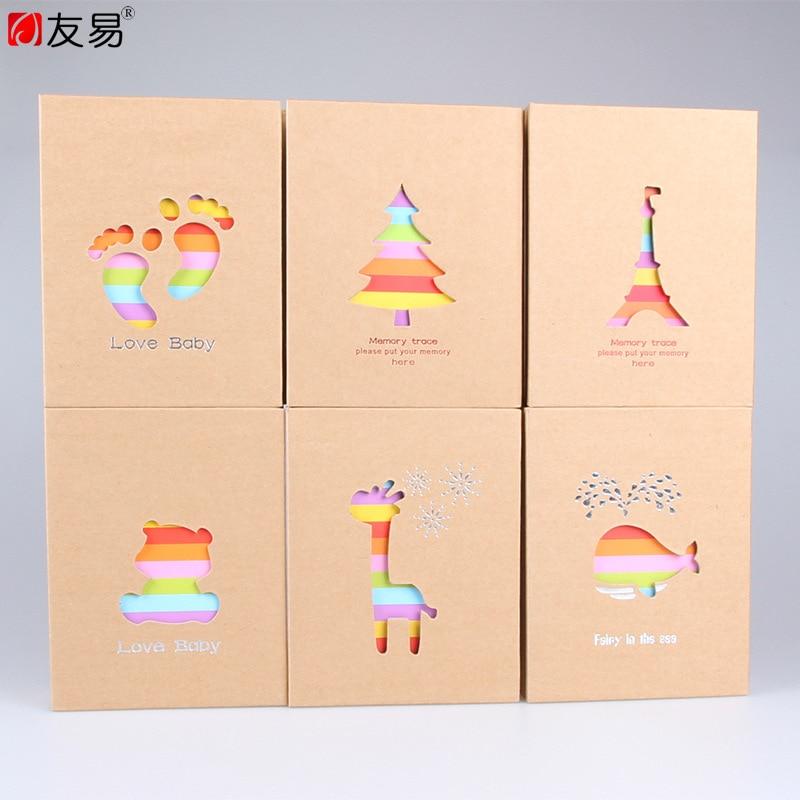 4D grande 6 pulgadas 100 hojas de plástico sello Foto álbum insertar estudio crecimiento niños bebé libro recuerdos regalos