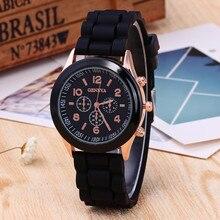Montre à quartz en Silicone de marque de luxe chaude femmes hommes dames bracelet de mode montres horloge