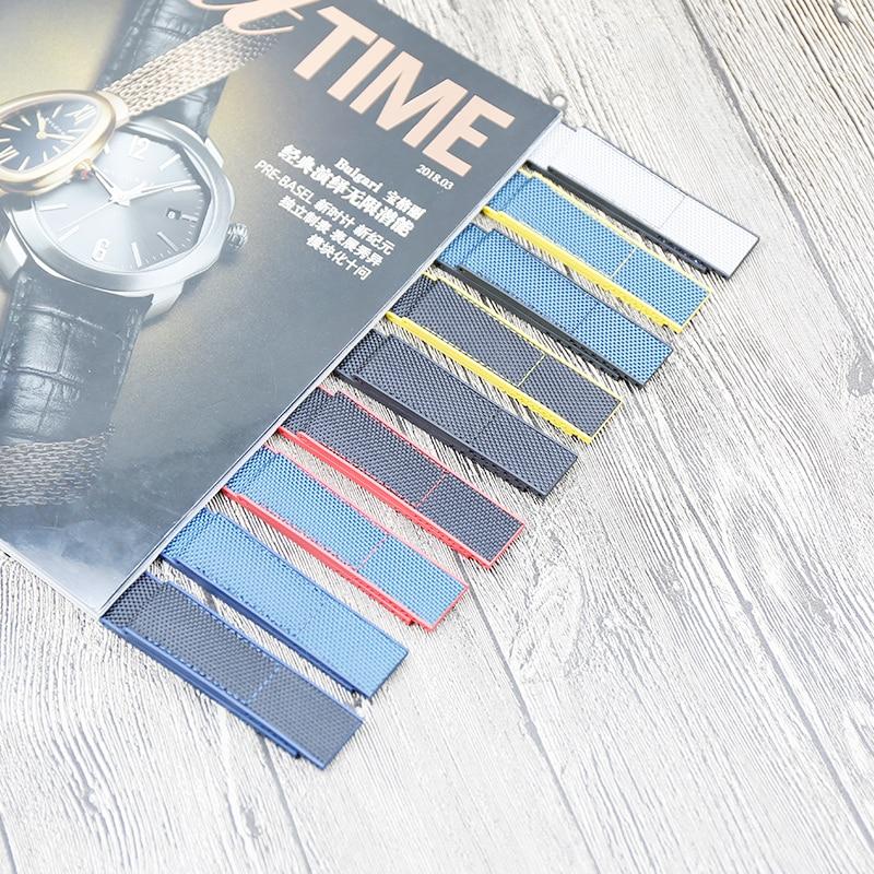 Accesorios de reloj correa de silicona de nailon para Breitling los Vengadores Correa deportiva de goma súper Marina 22mm 24mm correa de hombres y Ms